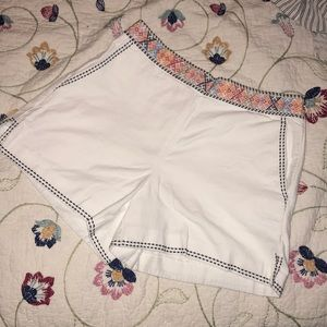White and patterned shorts